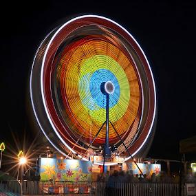 County Fair 3 by James Reil - City,  Street & Park  Amusement Parks ( monongalia, amuseument ride, west virginia, long exposure, county fair )