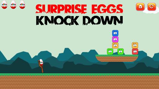 サプライズの卵はノックダウン
