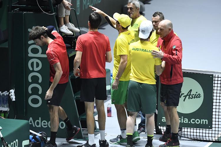 UPDATE: België uitgeschakeld in Davis Cup ondanks Australisch theater in dubbelspel