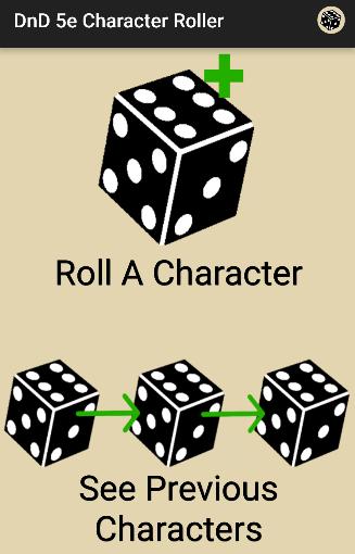 Character Roller - DnD 5e