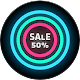 Neon Glow C - Icon Pack Download for PC Windows 10/8/7