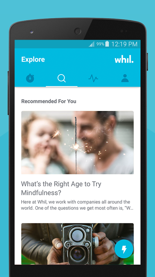 Whil: wellbeing & mindfulness- screenshot