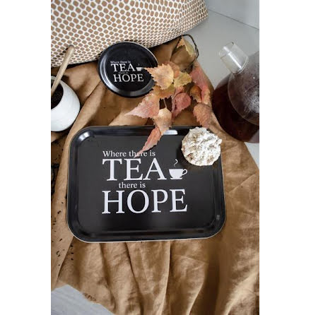 Bricka - Where there is tea, svart