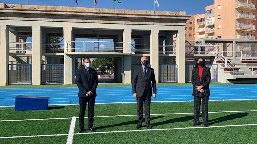 El consejero durante inauguración de la reforma integral del Estadio de la Juventud.