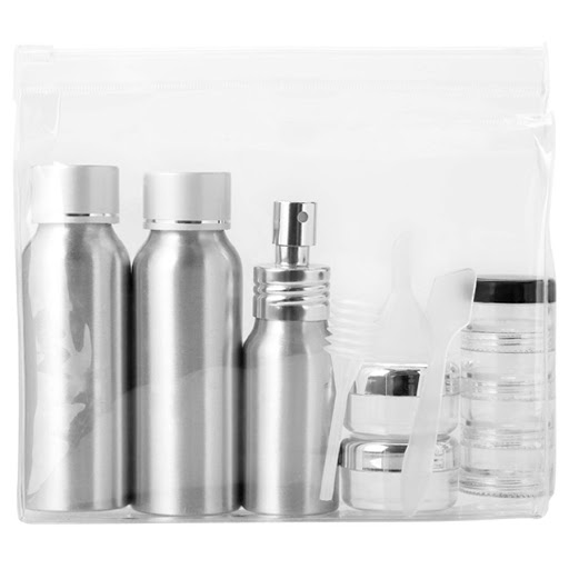 Airline Travel Bag with Aluminium Bottles