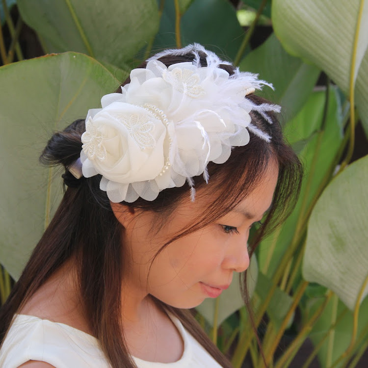 Butterfly/Rose Bridal Headband by Style Me Pretty