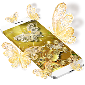 Gold Luxury Glitter Butterfly Theme