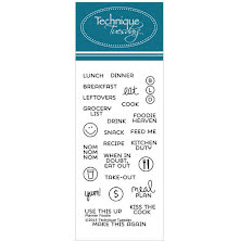 Technique Tuesday Clear Stamps 2X4 - Foodie UTGÅENDE