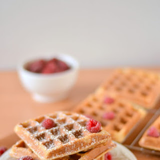 Light and Fluffy Whole Wheat Waffles.