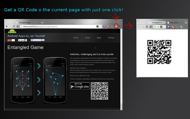 Page to QR Code