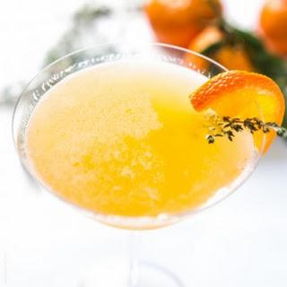 Tangerine & Honey Thyme Martini.