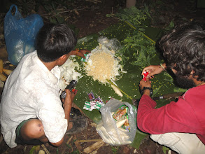 Photo: the guide prepare your food on jungle trek-3 Days Nam Ha Jungle Camp in Luang Namtha, Laos