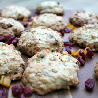 Ginger and Cranberry Oatmeal Cookies.