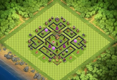 Maps COC TH 8 Clan War Base - náhled