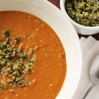 Sweet Potato and Coconut Soup with Thai Pesto