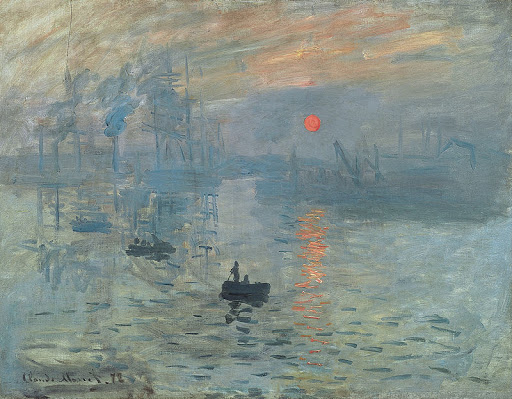 "Claude_Monet_Impression_soleil_levant - ""Soleil Levant"" (Impression, Sunrise) (1872), by Claude Monet, spawned the Impression movement. See it at Musée Marmottan Monet in Paris."