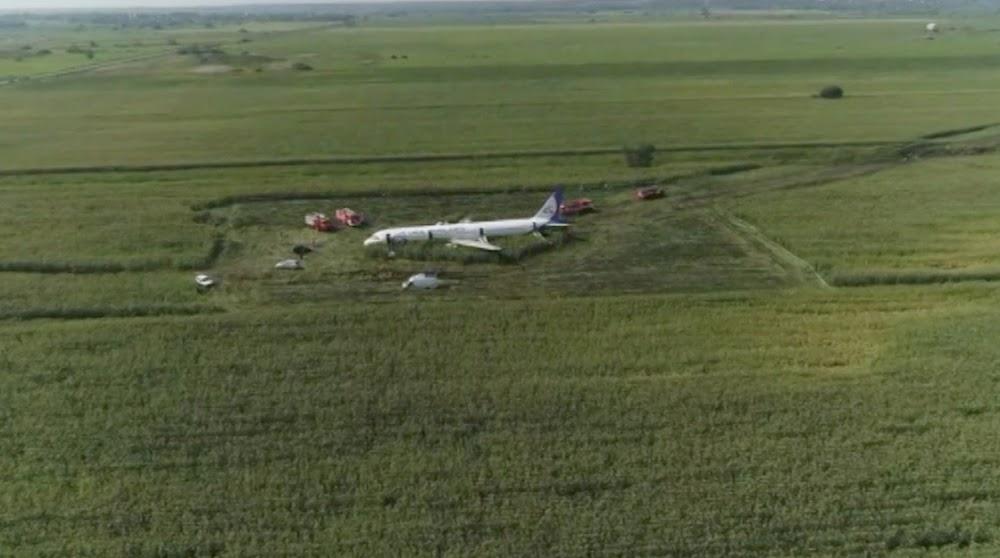 Russiese vlieënier red alle lewens aan boord terwyl voëls straal afbring