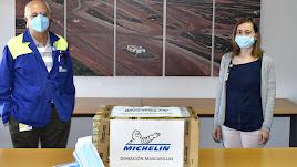 Mascarillas entregadas por Michelin a Asempal