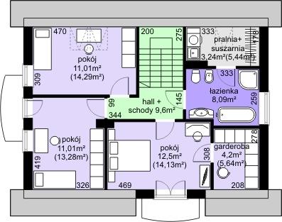 Dom przy Alabastrowej 21 - Rzut poddasza