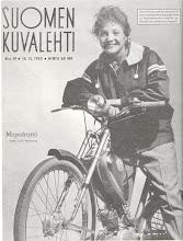 Photo: Ensimmäinen Peto -mopedi. Suomen Kuvalehti jakoi 10 kpl näitä mopedeja kilpailun palkintoina