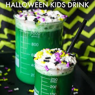 Mad Scientist Halloween Kids Drinks.