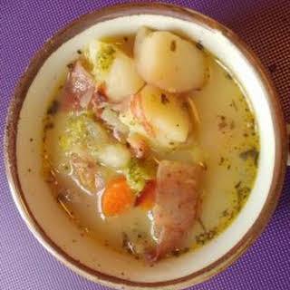 Easy Smoky Potato Soup.