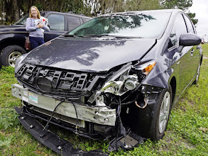 Photo: RIP little Prius. She said she loved you, but then she killed you. That's love ;) (No people were injured in the making of this mess.)