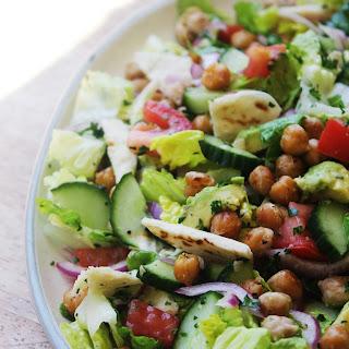 Fattoush Salad with Crispy Chickpeas