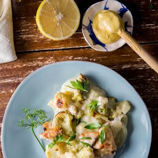 Lemon Chicken Broccoli Casserole + Maille Mustard