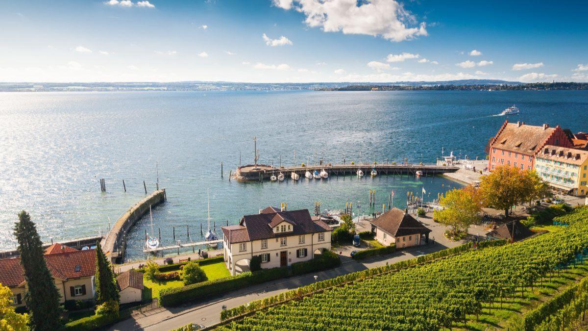 Meersburg harbor, Lake Constance