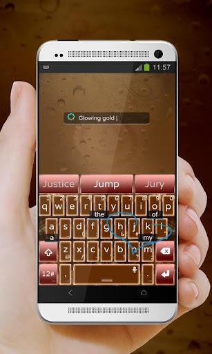 玩個人化App|泛著金 TouchPal 皮膚Pífū免費|APP試玩