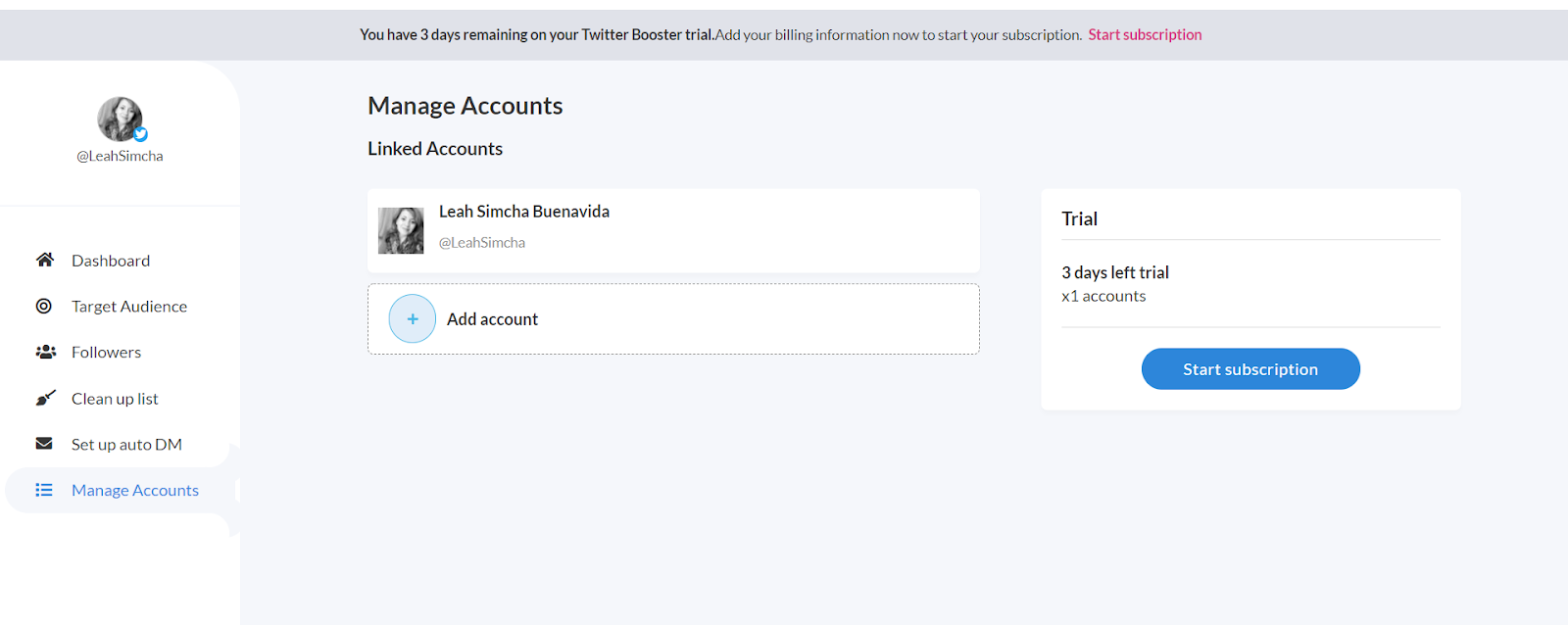 twitter booster - accounts