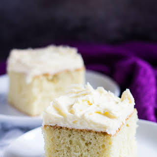Perfect Vanilla Sheet Cake.