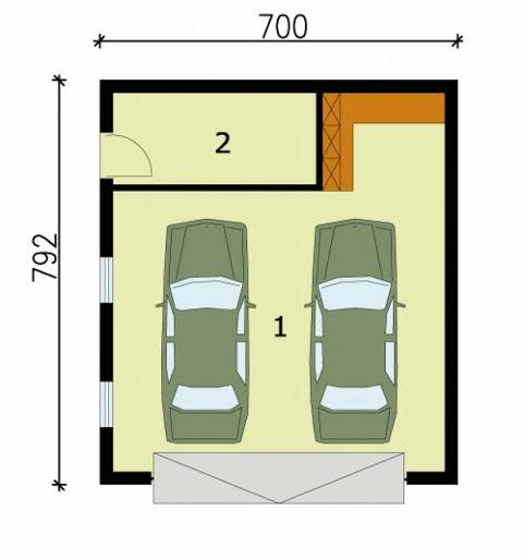 G129 - Rzut garażu
