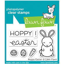 Lawn Fawn Clear Stamps 3X2 - Hoppy Easter