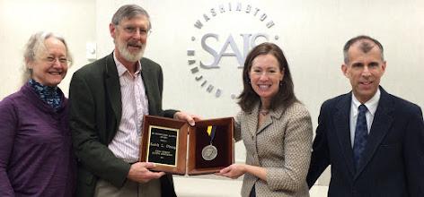 Photo: Keith Oberg SAIS award