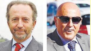 Rodrigo Charlo (Bogaris) y Tomás Olivo (General de Galerías).