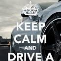 Keep Calm and love Cars icon