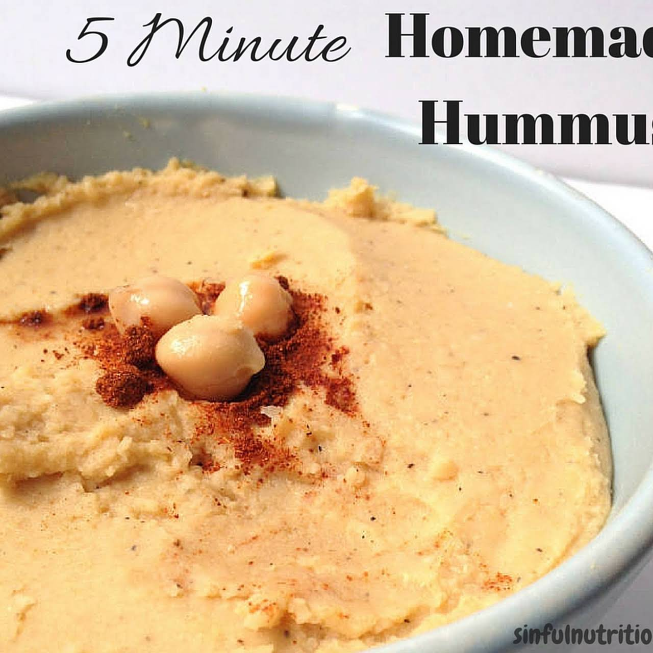 The Easiest Homemade Hummus Recipe of All Time