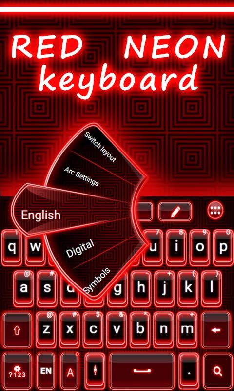 Red-Neon-GO-Keyboard-Theme 9