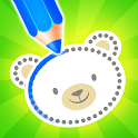 Baby drawing for kids - easy animal drawings icon