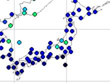2018年6月日本の降水量マップ