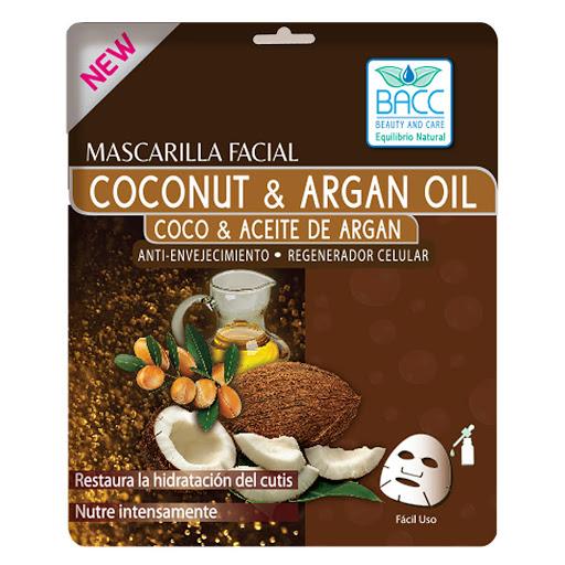 Mascarilla Facial Bacc Argan Y Coco 1 Und