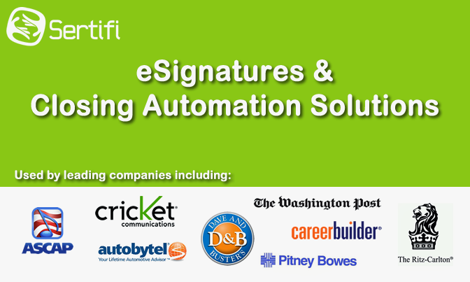 Photo: Leading companies including Dave and Buster's, CareerBuilder, Autobytel, +Chicago Tribune, +The Ritz-Carlton, +Par Springer-Miller & Cricket Communications are getting agreements signed faster with Sertifi's #eSignatures!  How are YOU getting agreements signed?