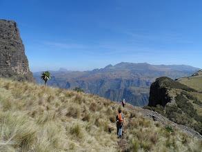 Photo: Trekking down from Imetgogo (which is the peak in the upper left), Simien Mountains National Park