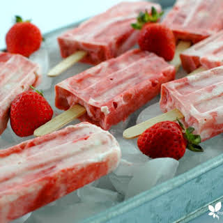 Strawberry Rhubarb Creamsicles.