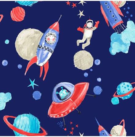 Imagine fun rymden glittrande tapet med astronauter från Arthouse