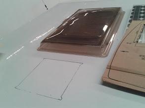 Photo: Ya tengo marcada la ubicación exacta del agujero que tengo que hacer en el techo.