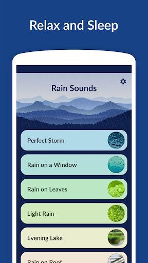 Rain Sounds - Sleep & Relax 3.3.1 screenshots 1
