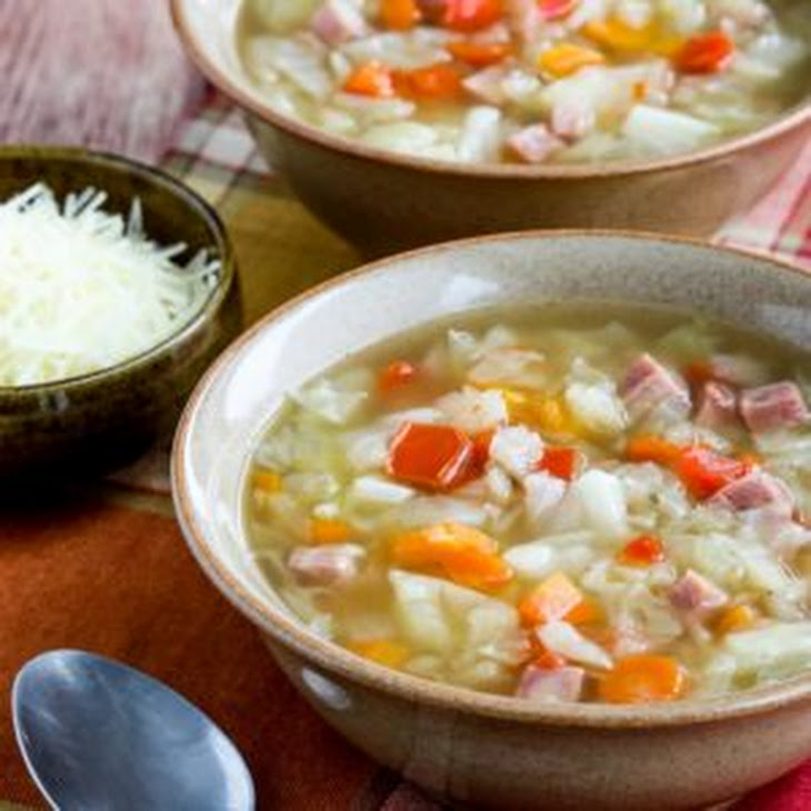 Instant Pot Low-Carb Ham and Cabbage Soup Recipe